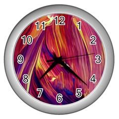 Abstract Acryl Art Wall Clocks (silver)  by tarastyle