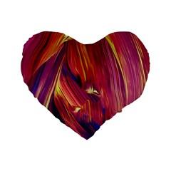 Abstract Acryl Art Standard 16  Premium Flano Heart Shape Cushions by tarastyle
