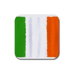 Flag Ireland, Banner Watercolor Painting Art Rubber Square Coaster (4 Pack)  by picsaspassion