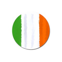 Flag Ireland, Banner Watercolor Painting Art Magnet 3  (round) by picsaspassion