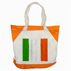Flag Ireland, Banner Watercolor Painting Art Accent Tote Bag by picsaspassion