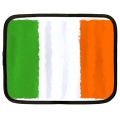 Flag Ireland, Banner Watercolor Painting Art Netbook Case (xxl)  by picsaspassion