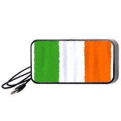 Flag Ireland, Banner Watercolor Painting Art Portable Speaker by picsaspassion