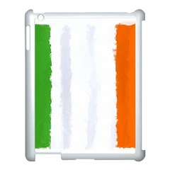 Flag Ireland, Banner Watercolor Painting Art Apple Ipad 3/4 Case (white) by picsaspassion