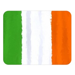 Flag Ireland, Banner Watercolor Painting Art Double Sided Flano Blanket (large)  by picsaspassion