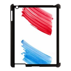 Tricolor Banner Watercolor Painting Art Apple Ipad 3/4 Case (black) by picsaspassion