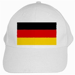 German Flag, Banner Deutschland, Watercolor Painting Art White Cap by picsaspassion