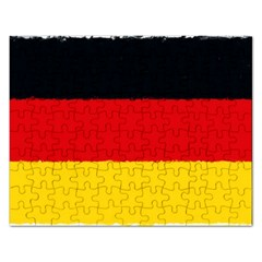 German Flag, Banner Deutschland, Watercolor Painting Art Rectangular Jigsaw Puzzl by picsaspassion
