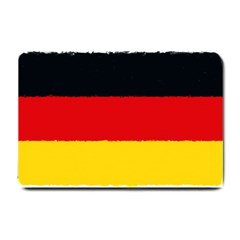 German Flag, Banner Deutschland, Watercolor Painting Art Small Doormat  by picsaspassion