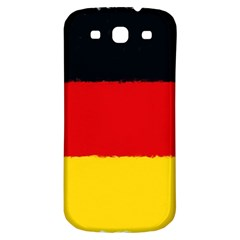 German Flag, Banner Deutschland, Watercolor Painting Art Samsung Galaxy S3 S Iii Classic Hardshell Back Case by picsaspassion