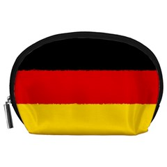 German Flag, Banner Deutschland, Watercolor Painting Art Accessory Pouches (large)  by picsaspassion