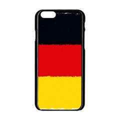 German Flag, Banner Deutschland, Watercolor Painting Art Apple Iphone 6/6s Black Enamel Case by picsaspassion