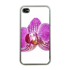 Lilac Phalaenopsis Aquarel  Watercolor Art Painting Apple Iphone 4 Case (clear) by picsaspassion