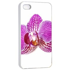 Lilac Phalaenopsis Aquarel  Watercolor Art Painting Apple Iphone 4/4s Seamless Case (white) by picsaspassion