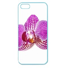 Lilac Phalaenopsis Aquarel  Watercolor Art Painting Apple Seamless Iphone 5 Case (color) by picsaspassion