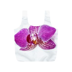 Lilac Phalaenopsis Aquarel  Watercolor Art Painting Full Print Recycle Bags (s)  by picsaspassion