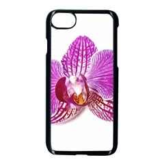 Lilac Phalaenopsis Aquarel  Watercolor Art Painting Apple Iphone 7 Seamless Case (black) by picsaspassion