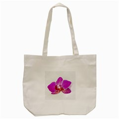 Lilac Phalaenopsis Flower, Floral Oil Painting Art Tote Bag (cream)