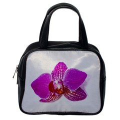 Lilac Phalaenopsis Flower, Floral Oil Painting Art Classic Handbags (one Side) by picsaspassion