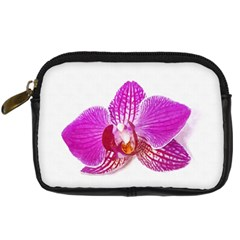 Lilac Phalaenopsis Flower, Floral Oil Painting Art Digital Camera Cases