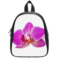 Lilac Phalaenopsis Flower, Floral Oil Painting Art School Bag (small)