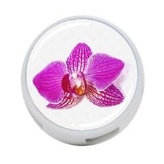 Lilac Phalaenopsis Flower, Floral Oil Painting Art 4 Port Usb Hub (one Side)