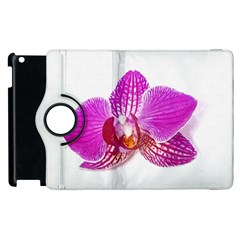 Lilac Phalaenopsis Flower, Floral Oil Painting Art Apple Ipad 2 Flip 360 Case by picsaspassion