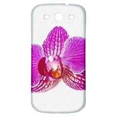 Lilac Phalaenopsis Flower, Floral Oil Painting Art Samsung Galaxy S3 S Iii Classic Hardshell Back Case by picsaspassion
