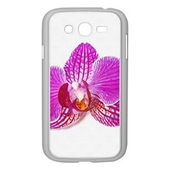 Lilac Phalaenopsis Flower, Floral Oil Painting Art Samsung Galaxy Grand Duos I9082 Case (white) by picsaspassion
