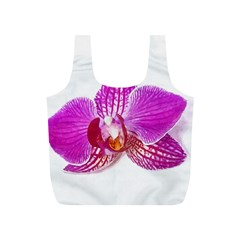 Lilac Phalaenopsis Flower, Floral Oil Painting Art Full Print Recycle Bags (s)