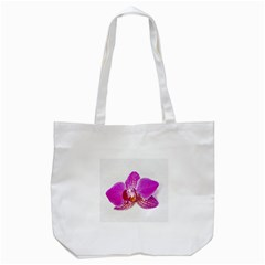 Lilac Phalaenopsis Flower, Floral Oil Painting Art Tote Bag (white) by picsaspassion