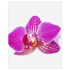 Lilac Phalaenopsis Flower, Floral Oil Painting Art Drawstring Bag (small) by picsaspassion