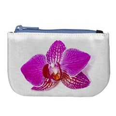 Lilac Phalaenopsis Flower, Floral Oil Painting Art Large Coin Purse by picsaspassion