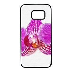 Lilac Phalaenopsis Flower, Floral Oil Painting Art Samsung Galaxy S7 Black Seamless Case