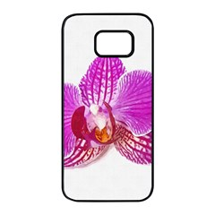 Lilac Phalaenopsis Flower, Floral Oil Painting Art Samsung Galaxy S7 Edge Black Seamless Case