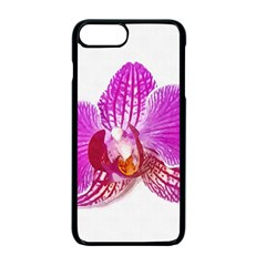 Lilac Phalaenopsis Flower, Floral Oil Painting Art Apple Iphone 7 Plus Seamless Case (black) by picsaspassion