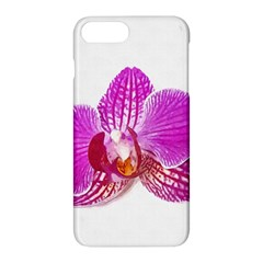 Lilac Phalaenopsis Flower, Floral Oil Painting Art Apple Iphone 8 Plus Hardshell Case by picsaspassion