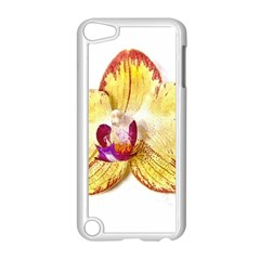 Yellow Phalaenopsis Flower, Floral Aquarel Watercolor Painting Art Apple Ipod Touch 5 Case (white) by picsaspassion