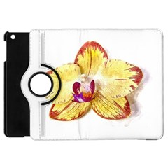 Yellow Phalaenopsis Flower, Floral Aquarel Watercolor Painting Art Apple Ipad Mini Flip 360 Case by picsaspassion