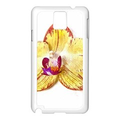 Yellow Phalaenopsis Flower, Floral Aquarel Watercolor Painting Art Samsung Galaxy Note 3 N9005 Case (white) by picsaspassion