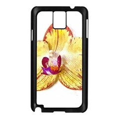 Yellow Phalaenopsis Flower, Floral Aquarel Watercolor Painting Art Samsung Galaxy Note 3 N9005 Case (black) by picsaspassion