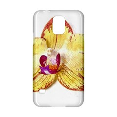 Yellow Phalaenopsis Flower, Floral Aquarel Watercolor Painting Art Samsung Galaxy S5 Hardshell Case  by picsaspassion