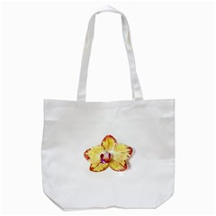 Yellow Phalaenopsis Flower, Floral Aquarel Watercolor Painting Art Tote Bag (white) by picsaspassion