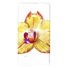 Yellow Phalaenopsis Flower, Floral Aquarel Watercolor Painting Art Galaxy Note 4 Back Case by picsaspassion