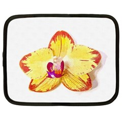 Phalaenopsis Yellow Flower, Floral Oil Painting Art Netbook Case (xxl)  by picsaspassion