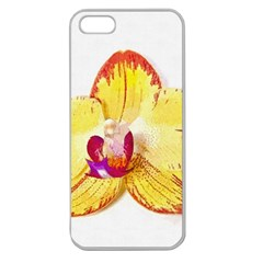 Phalaenopsis Yellow Flower, Floral Oil Painting Art Apple Seamless Iphone 5 Case (clear) by picsaspassion