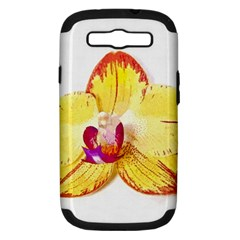 Phalaenopsis Yellow Flower, Floral Oil Painting Art Samsung Galaxy S Iii Hardshell Case (pc+silicone) by picsaspassion