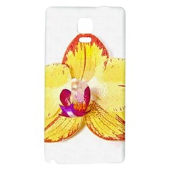 Phalaenopsis Yellow Flower, Floral Oil Painting Art Galaxy Note 4 Back Case by picsaspassion