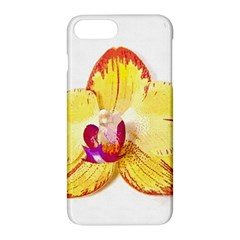 Phalaenopsis Yellow Flower, Floral Oil Painting Art Apple Iphone 7 Plus Hardshell Case by picsaspassion