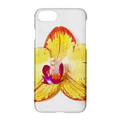 Phalaenopsis Yellow Flower, Floral Oil Painting Art Apple Iphone 7 Hardshell Case by picsaspassion